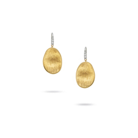Marco Bicego® Lunaria Collection 18K Yellow Gold and Diamond Small Drop Earrings
