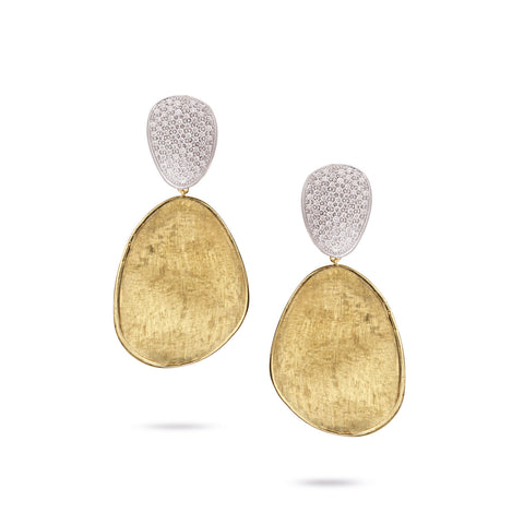 Lunaria Gold & Diamond Pave Large Double Drop Earrings