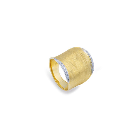 Marco Bicego® Lunaria Collection 18K Yellow Gold and Diamond Wide Ring