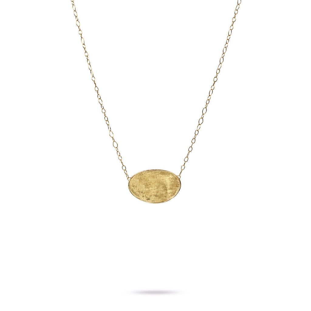 18K Gold Leaf Pendant