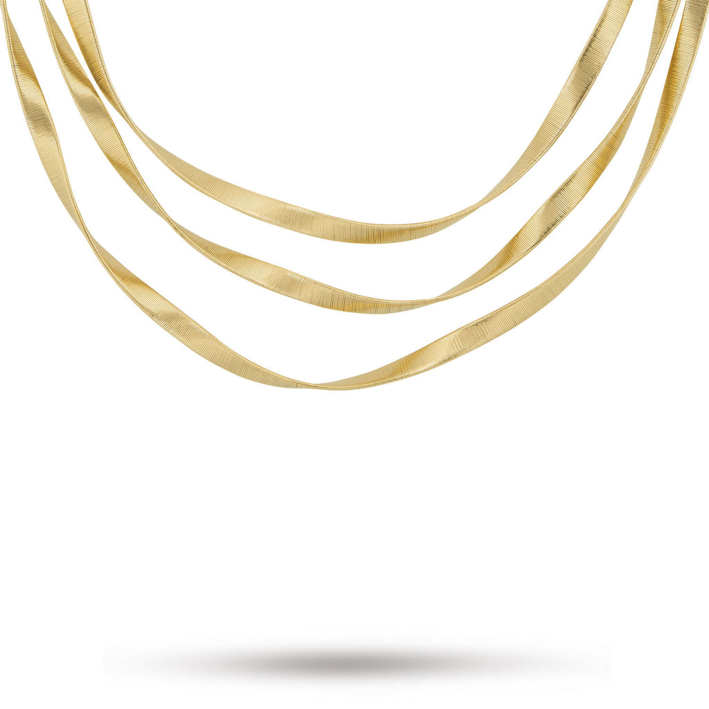 Marrakech Supreme 18K Yellow Gold Three Strand Necklace