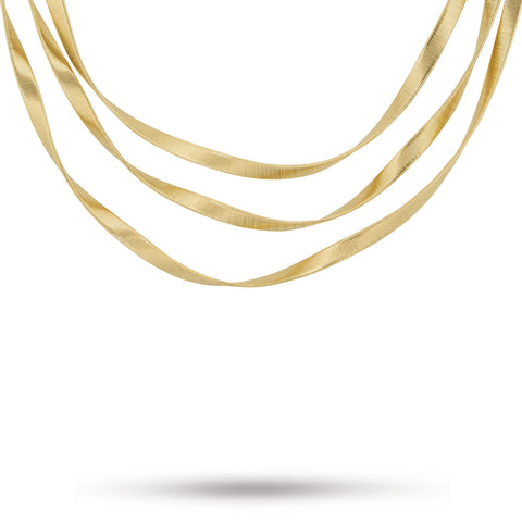 Marrakech Supreme Gold Three Strand Necklace