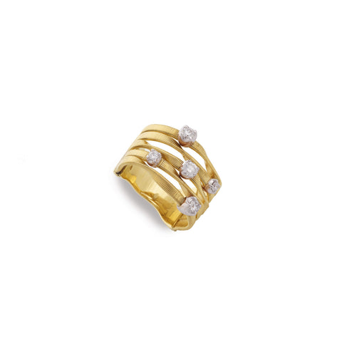Marrakech Couture Gold & Diamond Five Strand Ring