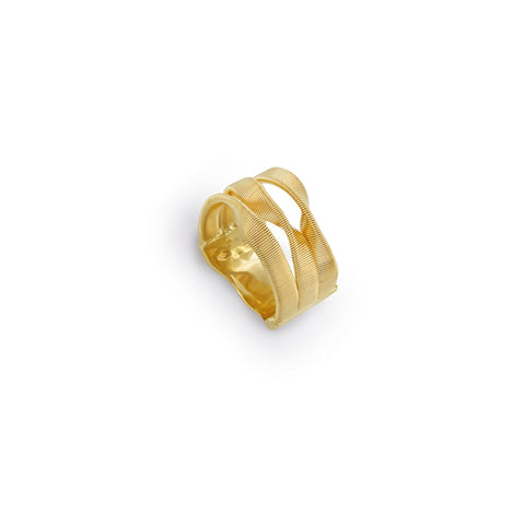 Marrakech Supreme Three Row Ring In Yellow Gold