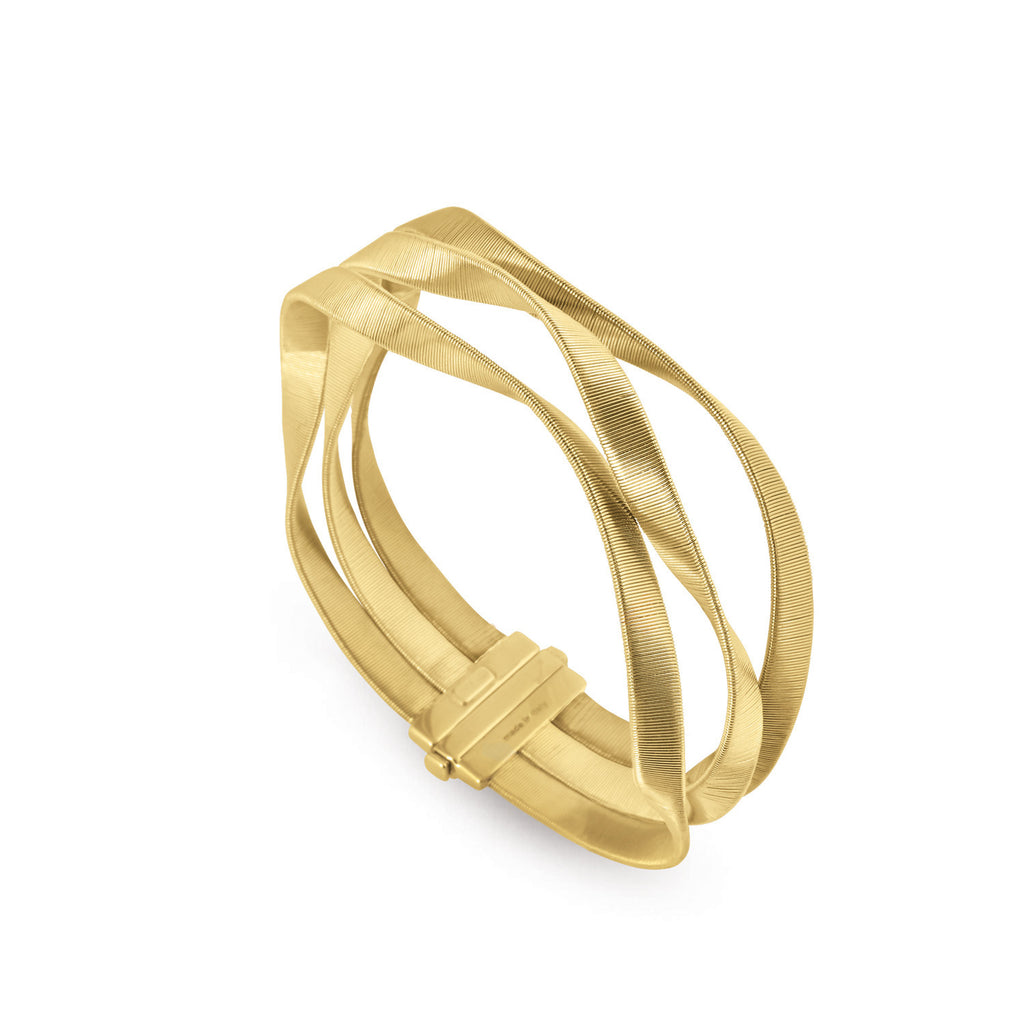 Marrakech Supreme Gold Three Strand Bangle