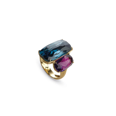 Murano Amethyst & Blue Topaz Cocktail Ring