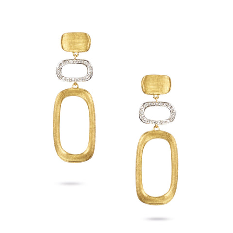 Murano Gold & Diamond Link Earrings