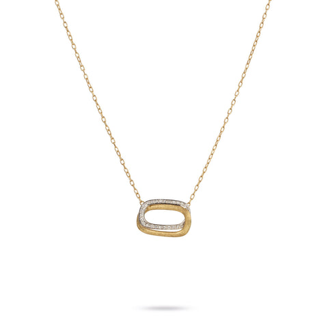 Murano Gold & Diamond Overlapping Link Medium Pendant
