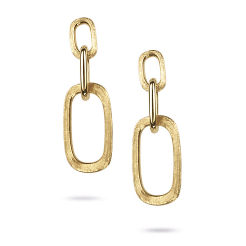 Murano Gold Triple Drop Link Earrings