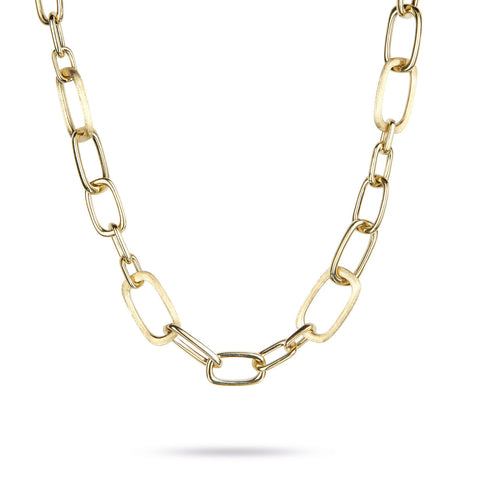 Murano Gold Large Link Necklace