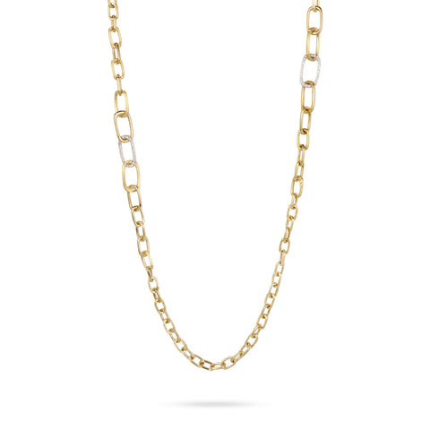 Murano Gold & Diamond Graduated Link Convertible Necklace