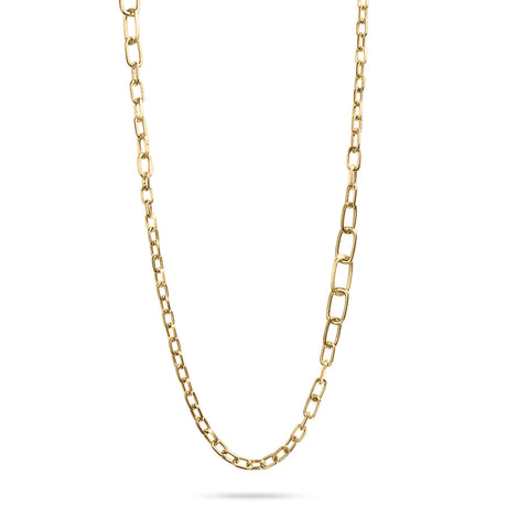 Murano Gold Graduated Link Convertible Necklace