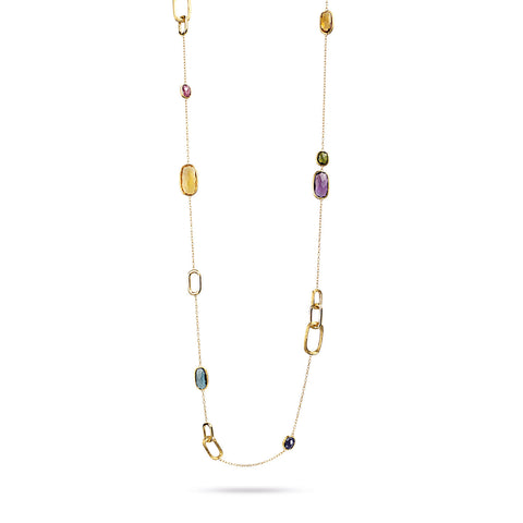Murano Mixed Stone Long Necklace