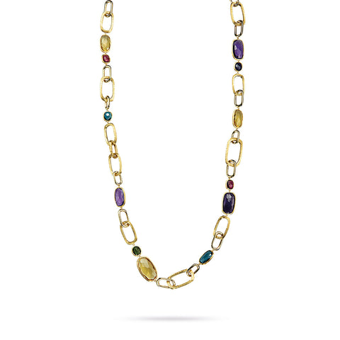 Murano Mixed Stone Link Convertible Necklace