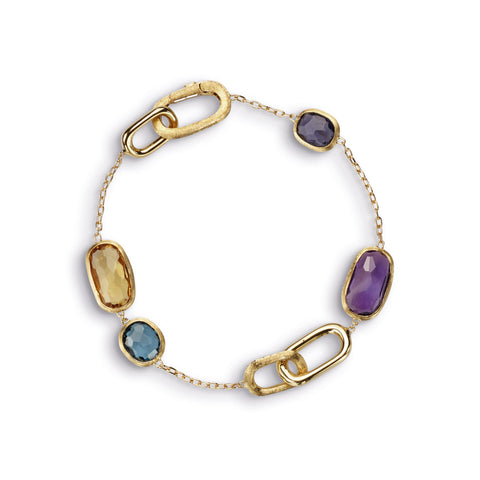 Murano Mixed Stone Chain Bracelet