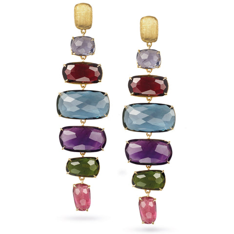 Murano Mixed Stone Large Drop Earrings