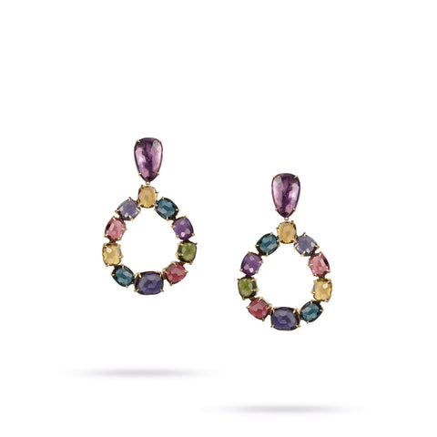 Murano Mixed Stone Small Chandelier Earrings