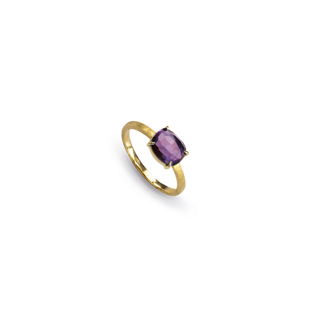 18K Gold Amethyst Stackable Ring
