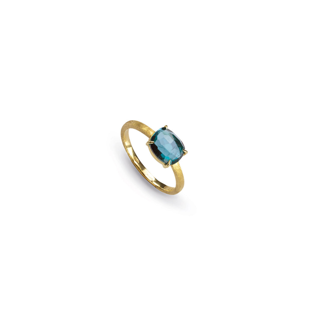 18K Gold London Blue Topaz Stackable Ring