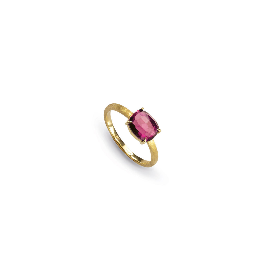 18K Gold Tourmaline Stackable Ring
