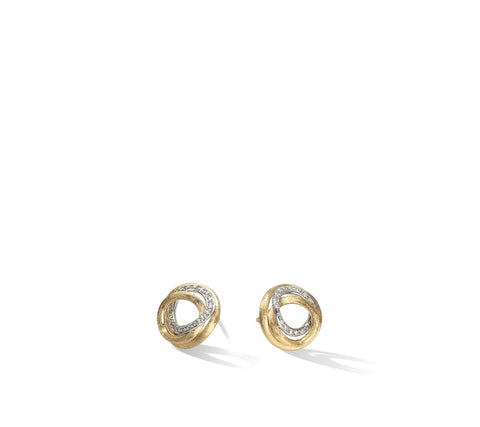 Marco Bicego® Jaipur Collection 18K Yellow Gold and Diamond Link Stud Earrings