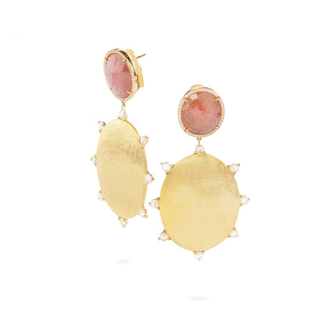 Marco Bicego® Unico Collection 18K Yellow Gold Sapphire and Rose Cut Diamond Drop Earrings