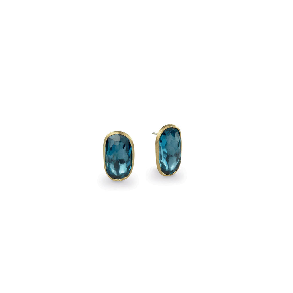 Murano London Blue Topaz Large Stud Earrings