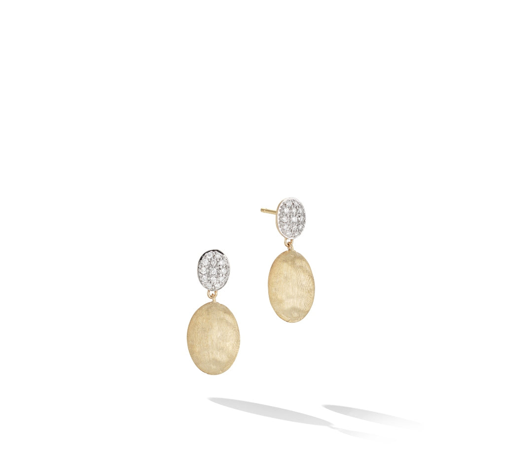 Marco Bicego® Siviglia Collection 18K Yellow Gold and Diamond Drop Earrings