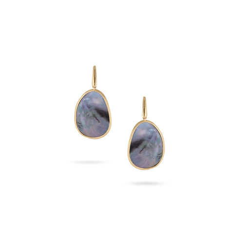 Lunaria Black Mother of Pearl Drop Earrings