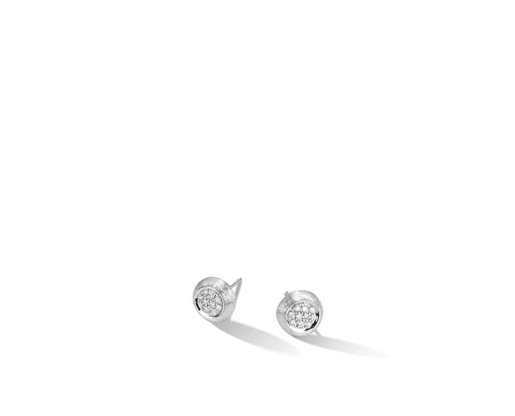 Marco Bicego® Jaipur Collection 18K White Gold and Diamond Stud Earrings