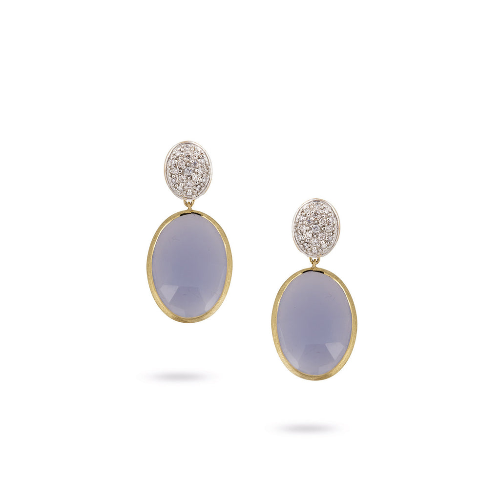 Siviglia Chalcedony & Diamond Drop Earrings