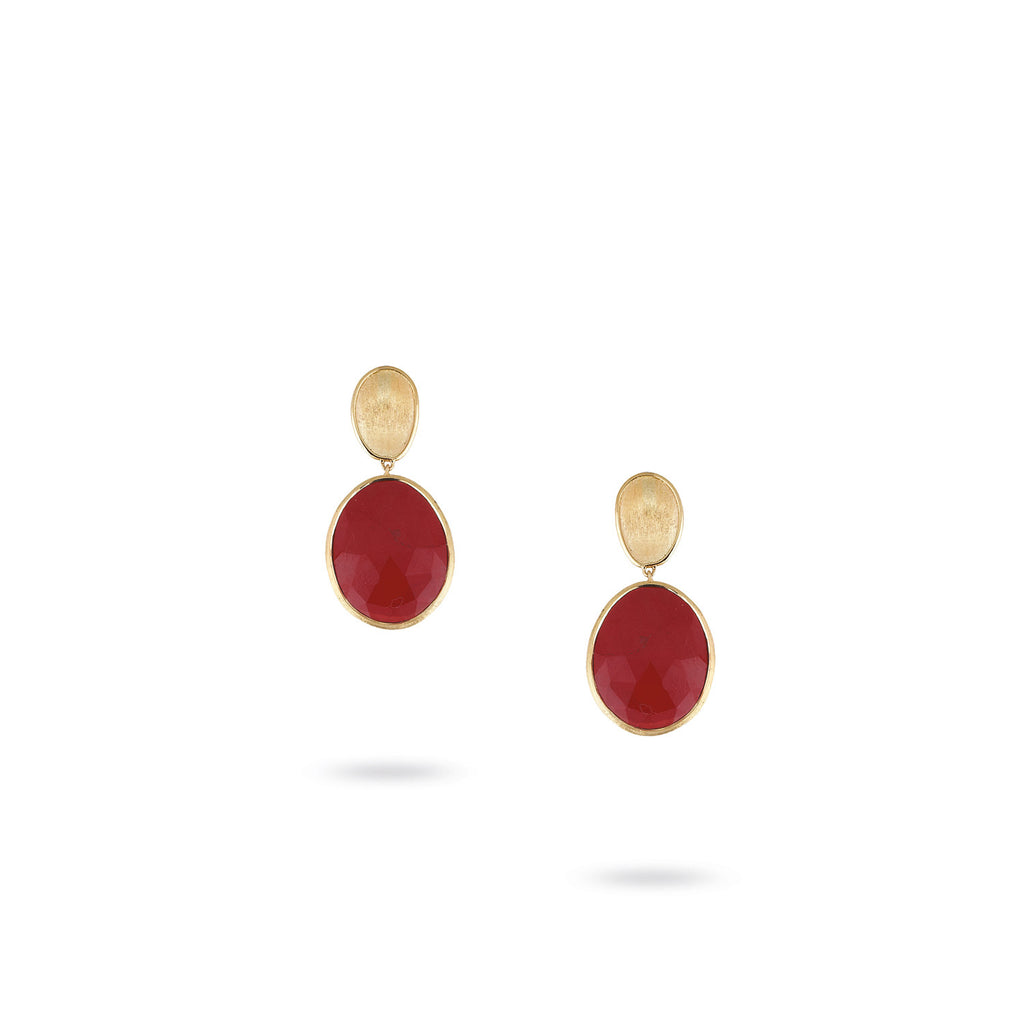Lunaria Gold & Red Jasper Small Earrings