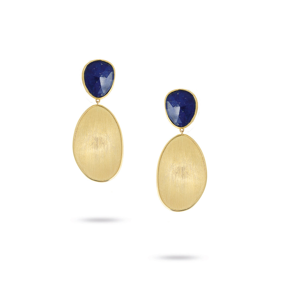 Lunaria Gold & Lapis Top Earrings