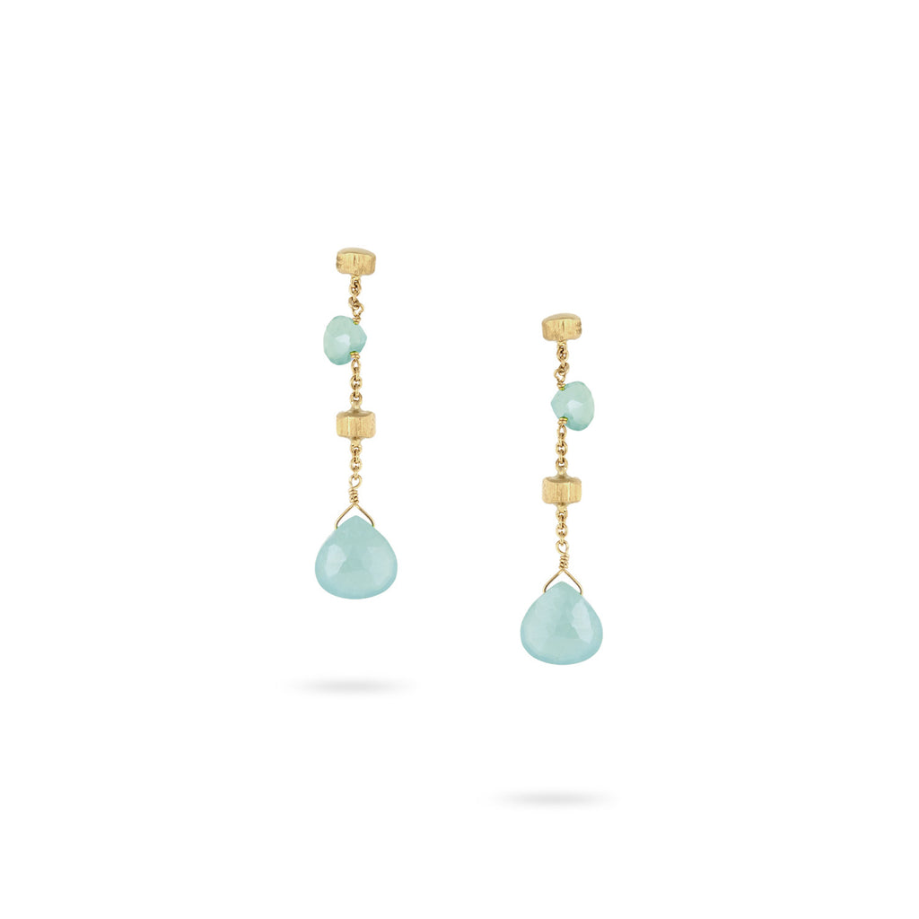 "Paradise Aquamarine 1.45"" Drop Earrings"