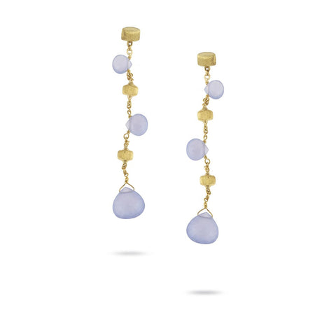 "Paradise Chalcedony 2.25"" Drop Earrings"