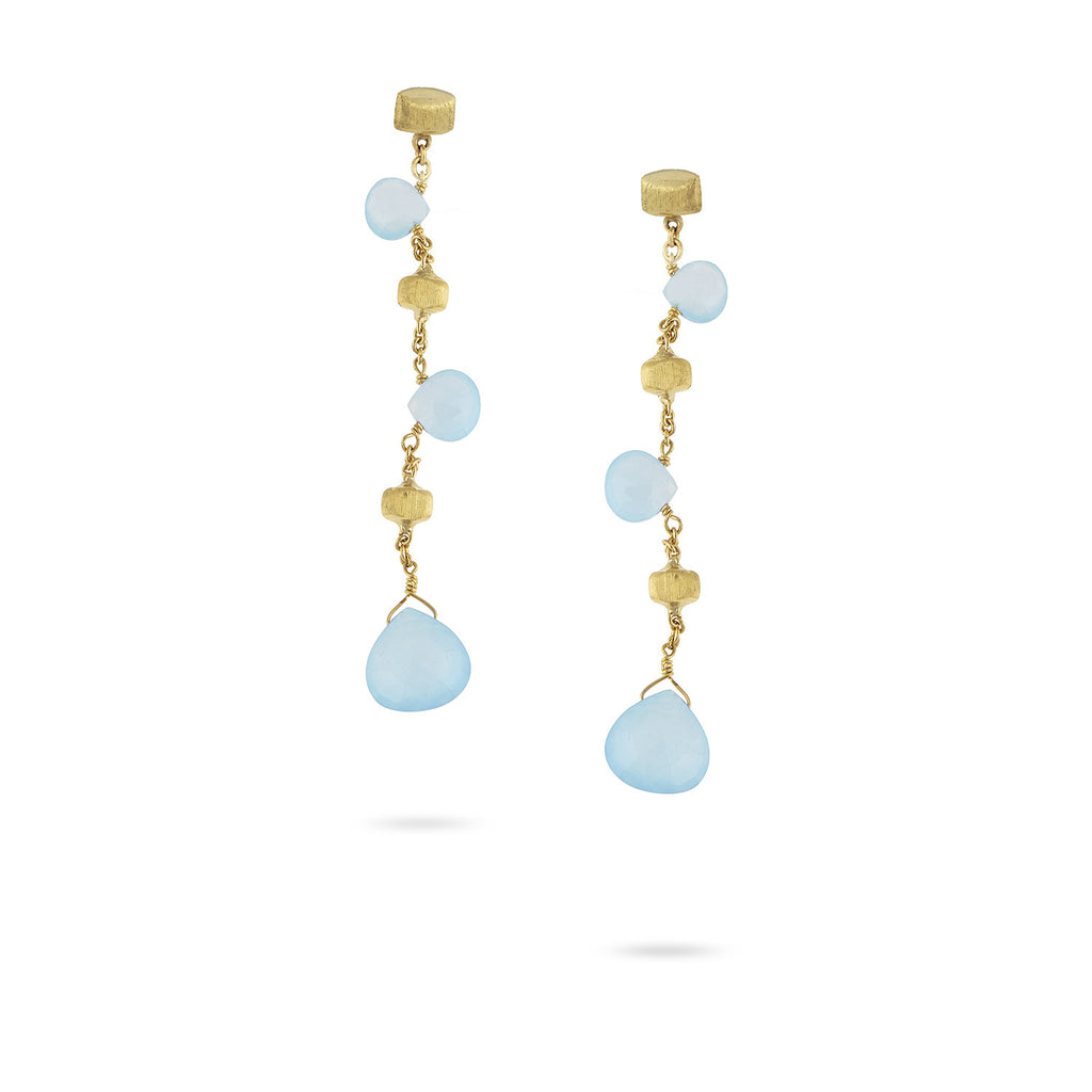 "Paradise Aquamarine 2.25"" Drop Earrings"