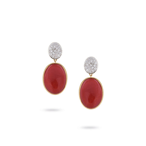 Unico Siviglia Coral and Diamond Earrings