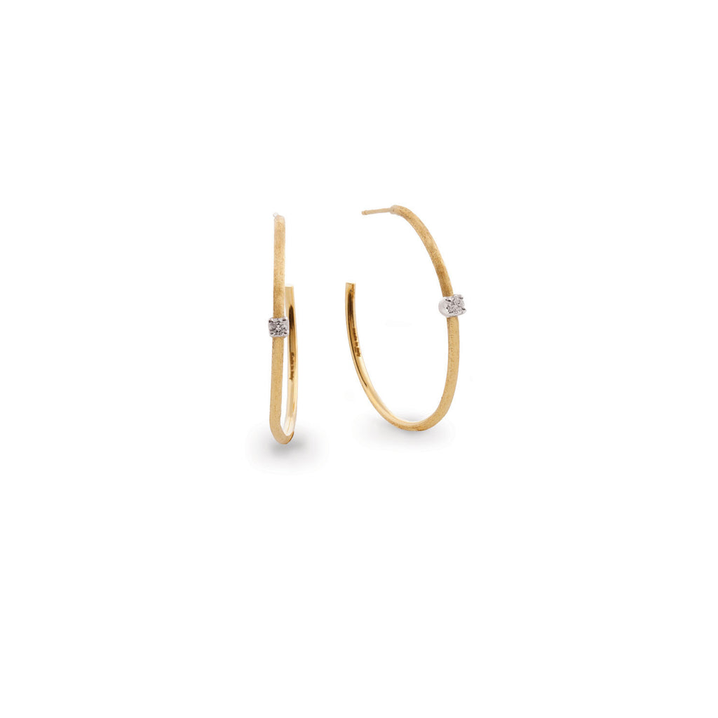 Luce Gold & Diamond Medium Hoop Earrings - Exclusive
