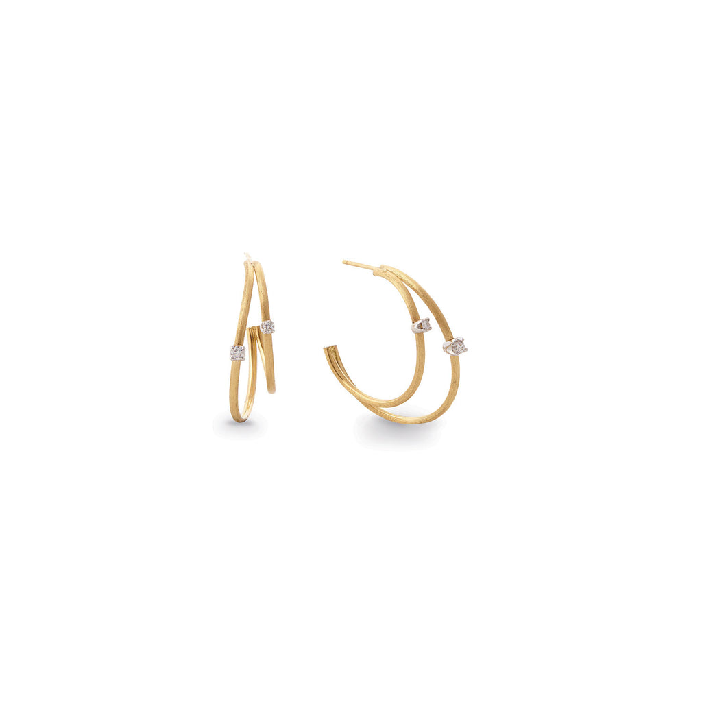 Luce Gold & Diamond Double Hoop Earrings - Exclusive