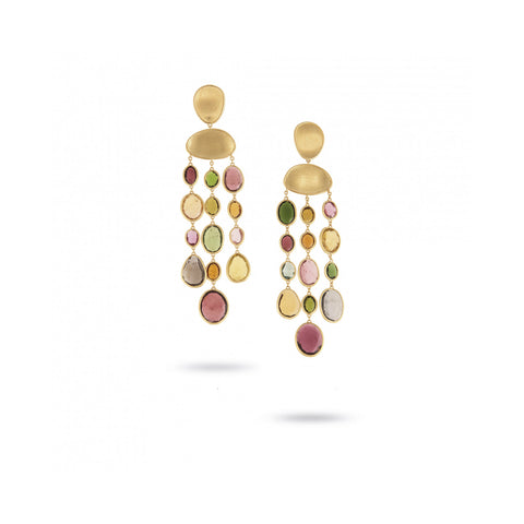Unico Lunaria Yellow Gold & Mixed Tourmaline Earrings