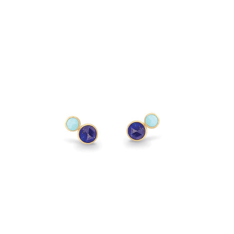 Japiur Two Stone Stud With Lapis and Turquoise