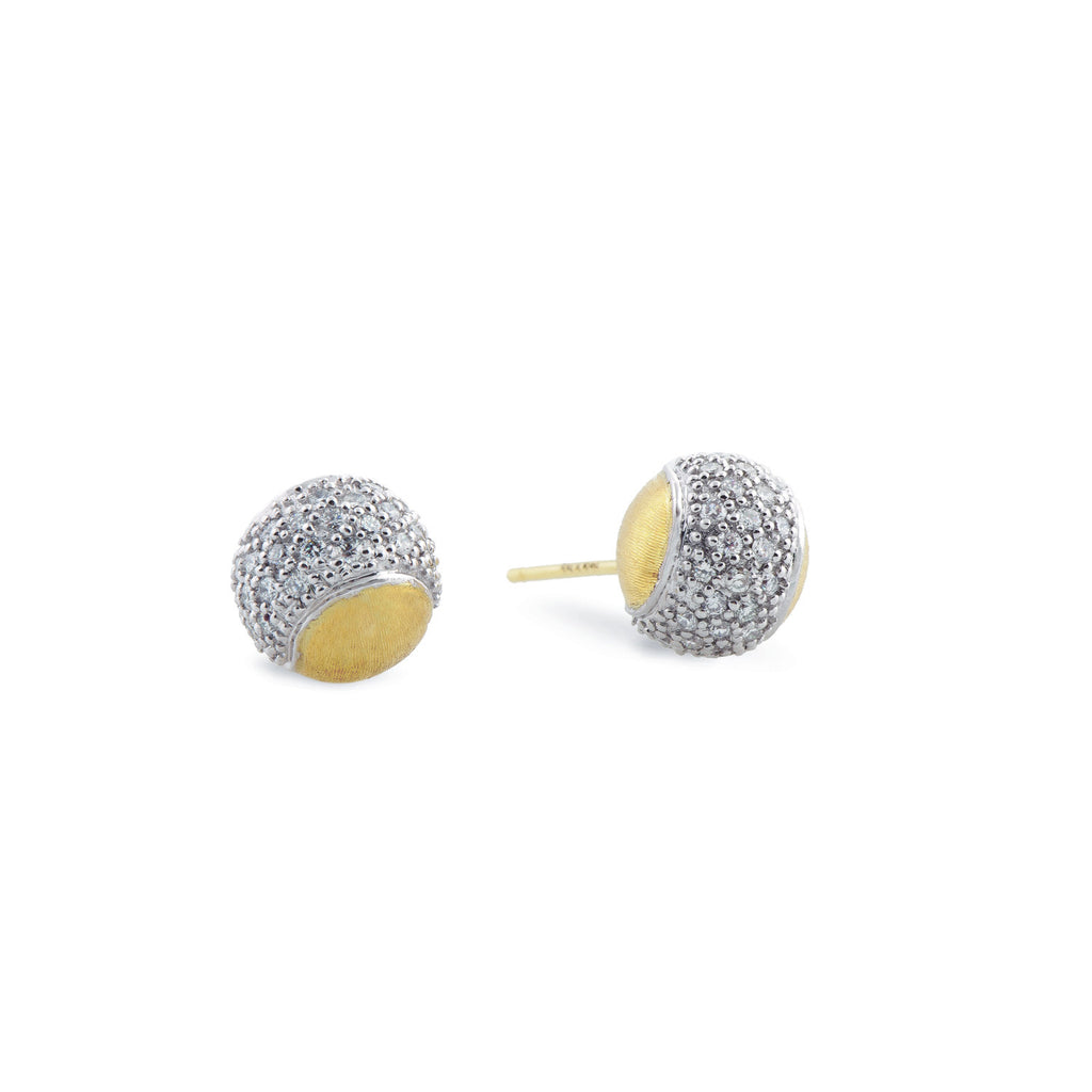 Tennis Gold and Diamond Pave Studs
