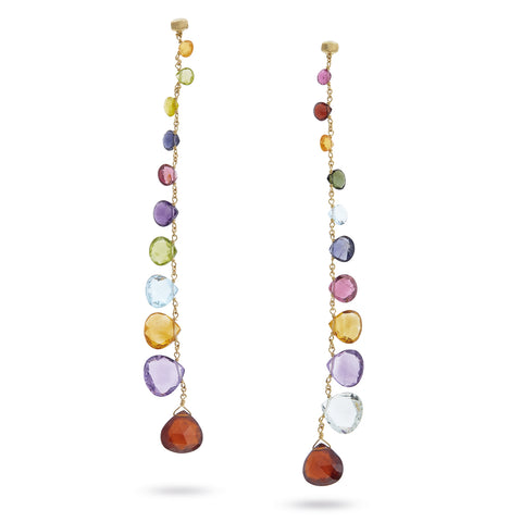Paradise 18K Yellow Gold Mixed Gemstone Duster Earrings