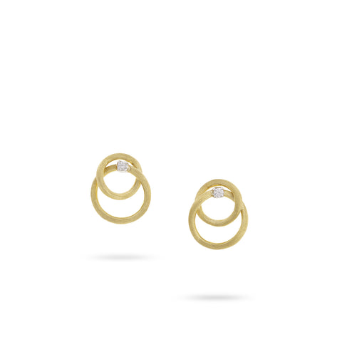 Luce Yellow Gold & Diamond Link Earrings