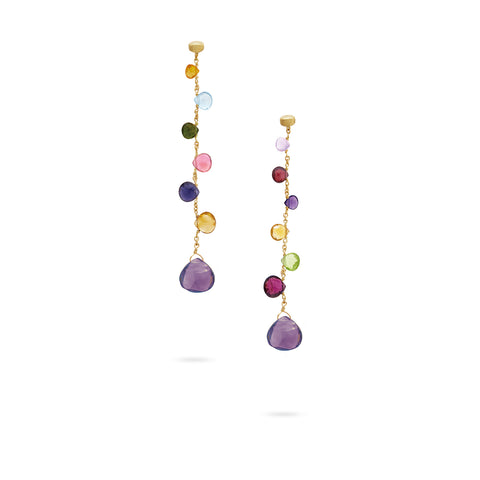 Marco Bicego® Paradise Collection 18K Yellow Gold Mixed Gemstone Drop Earrings