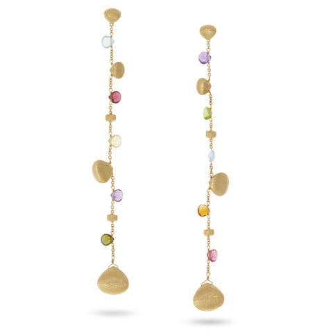 Marco Bicego® Paradise Collection 18K Yellow Gold Mixed Gemstone Single Strand Duster Earrings