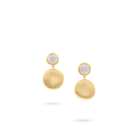 Marco Bicego® Jaipur Collection 18K Yellow Gold and Diamond Medium Drop Earrings