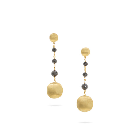 Africa Black Diamond Short Drop Earrings