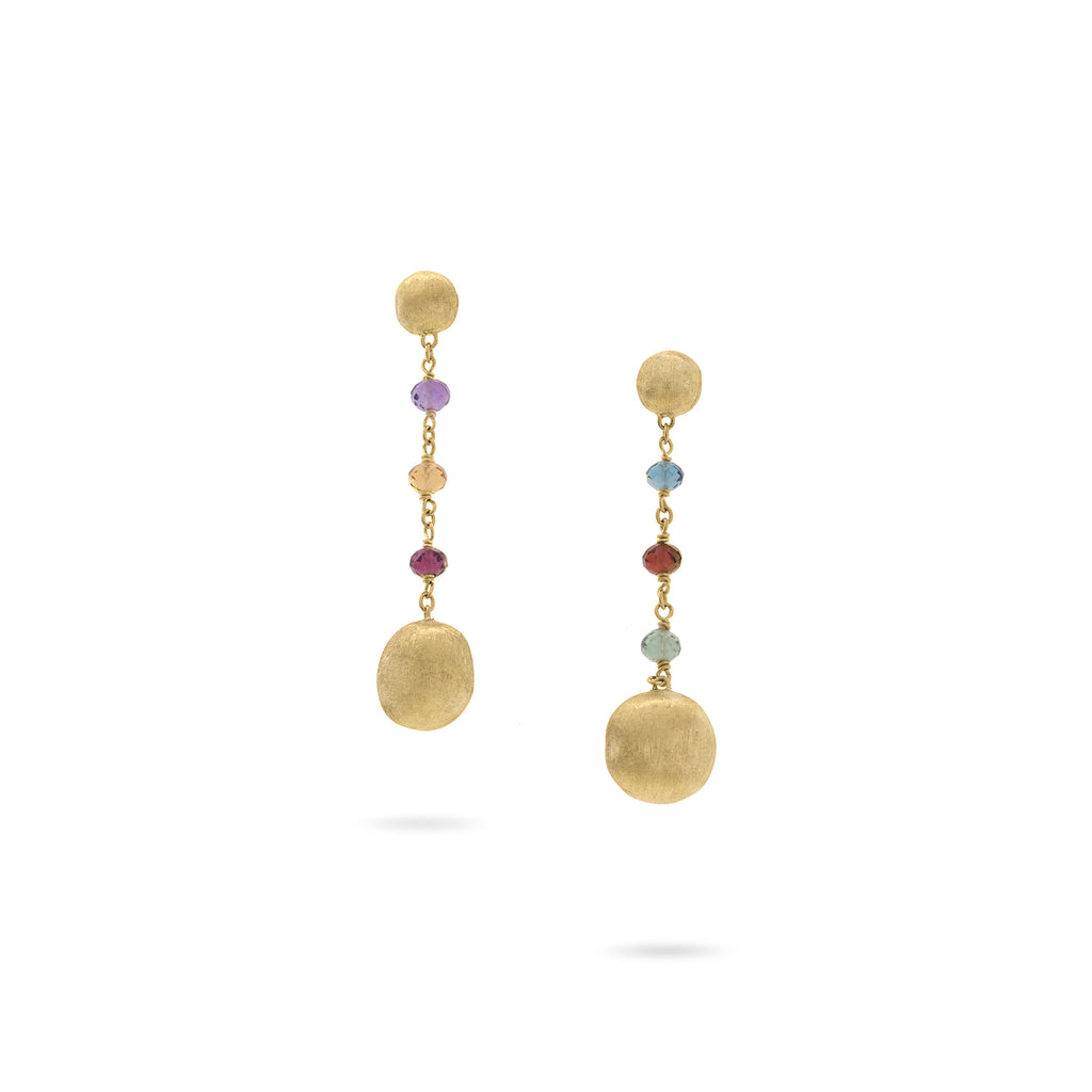 Marco Bicego® Africa Collection 18K Yellow Gold Mixed Gemstone Drop Earrings