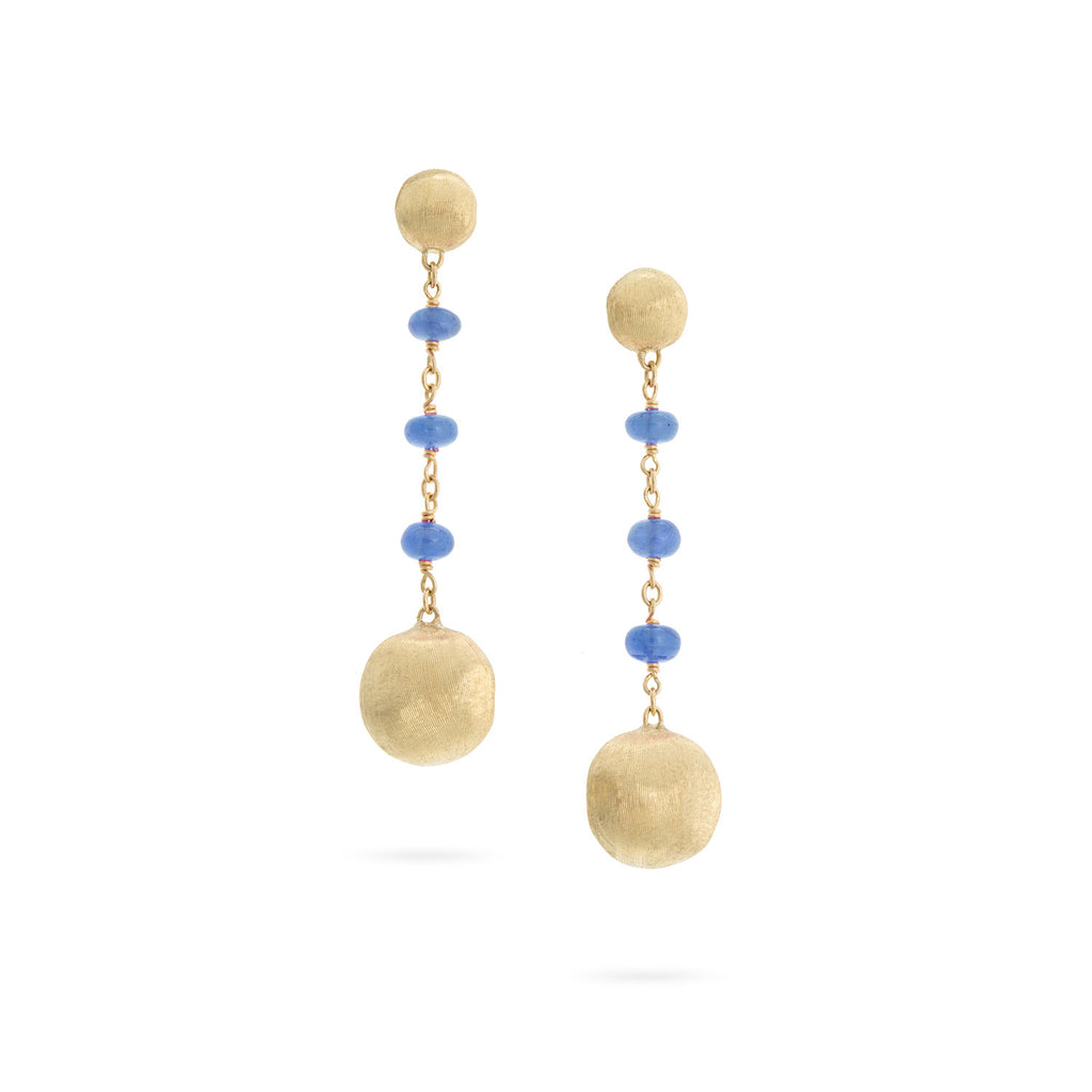Marco Bicego® Africa Collection 18K Yellow Gold and Sapphire Drop Earrings